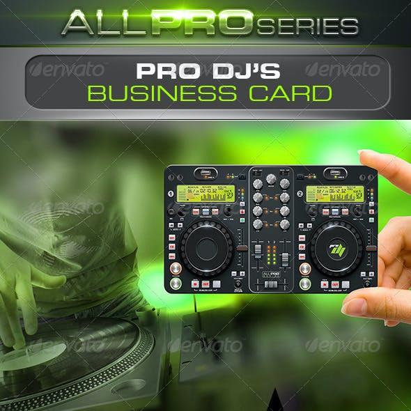 Pro DJ Business Card