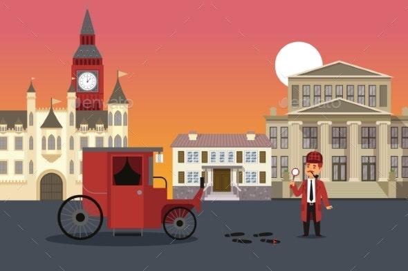 City Street Investigation Sherlock Holmes Result - Miscellaneous Vectors