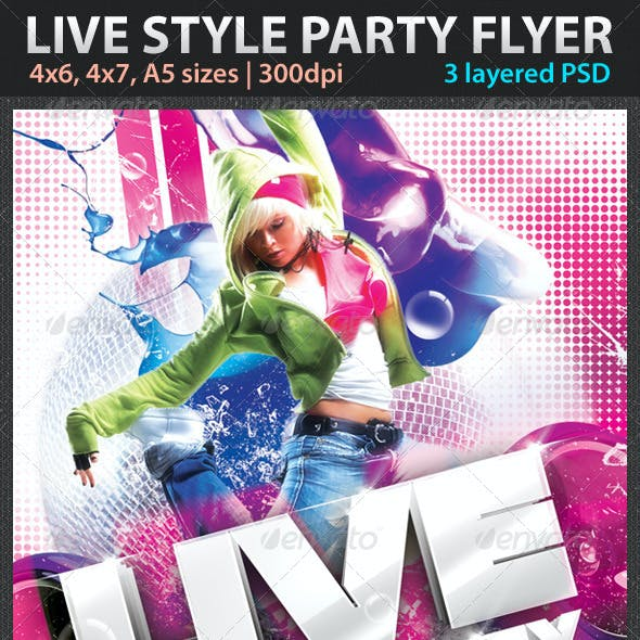 Live Style Party Flyer