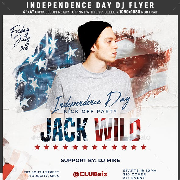 Independence Day Dj Flyer