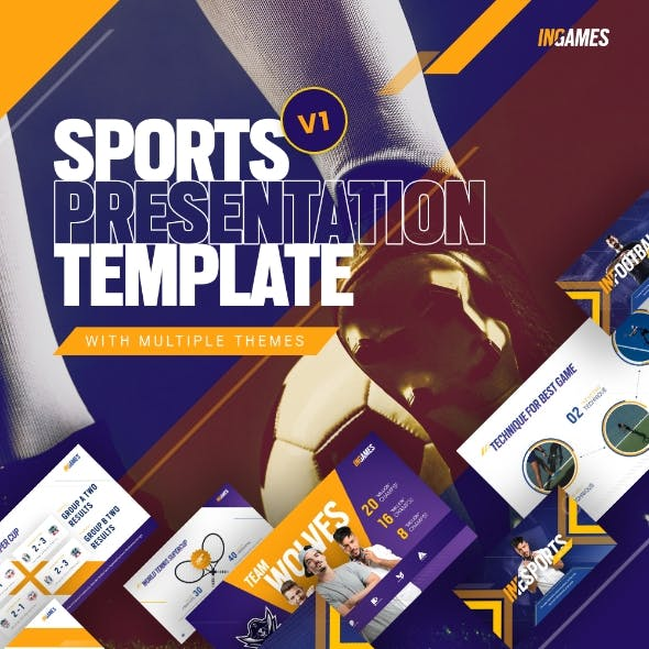 In Games Creative Animated Sport & Games Event PowerPoint Presentation Template