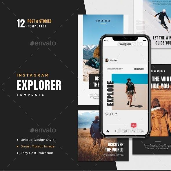Explorer Instagram Template