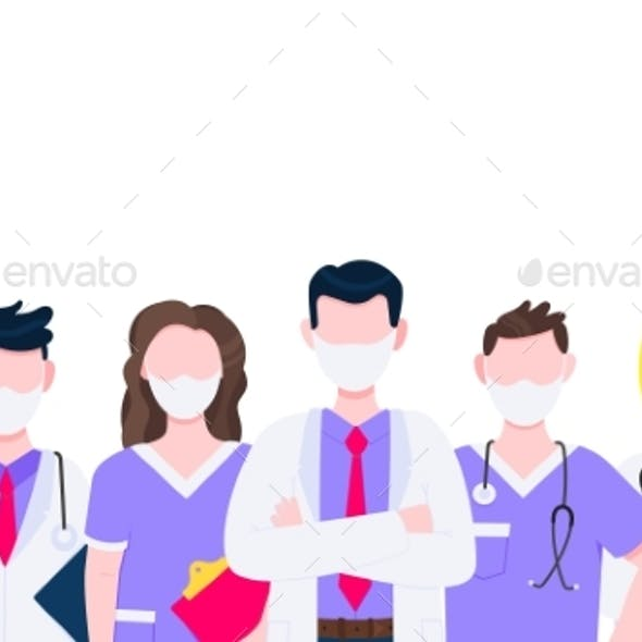 Successful Team of Medical Employee Doctors