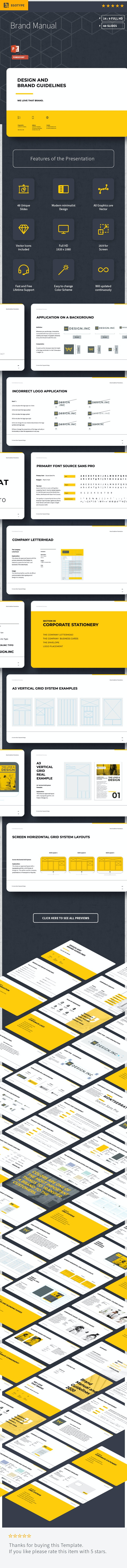 Brand Manual PowerPoint - Creative Keynote Templates