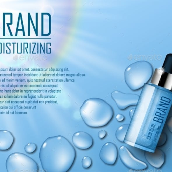 Cosmetic Moisture Product. Ads of Premium Serum