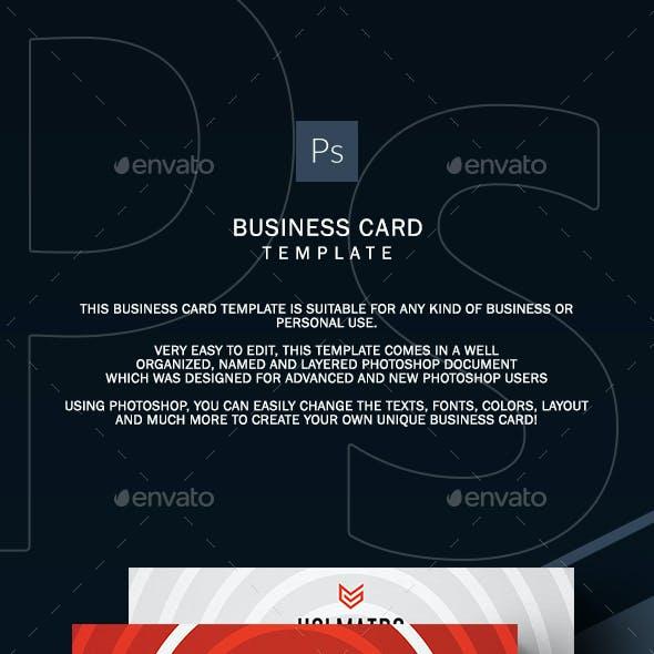 Orange Corporate Business Card