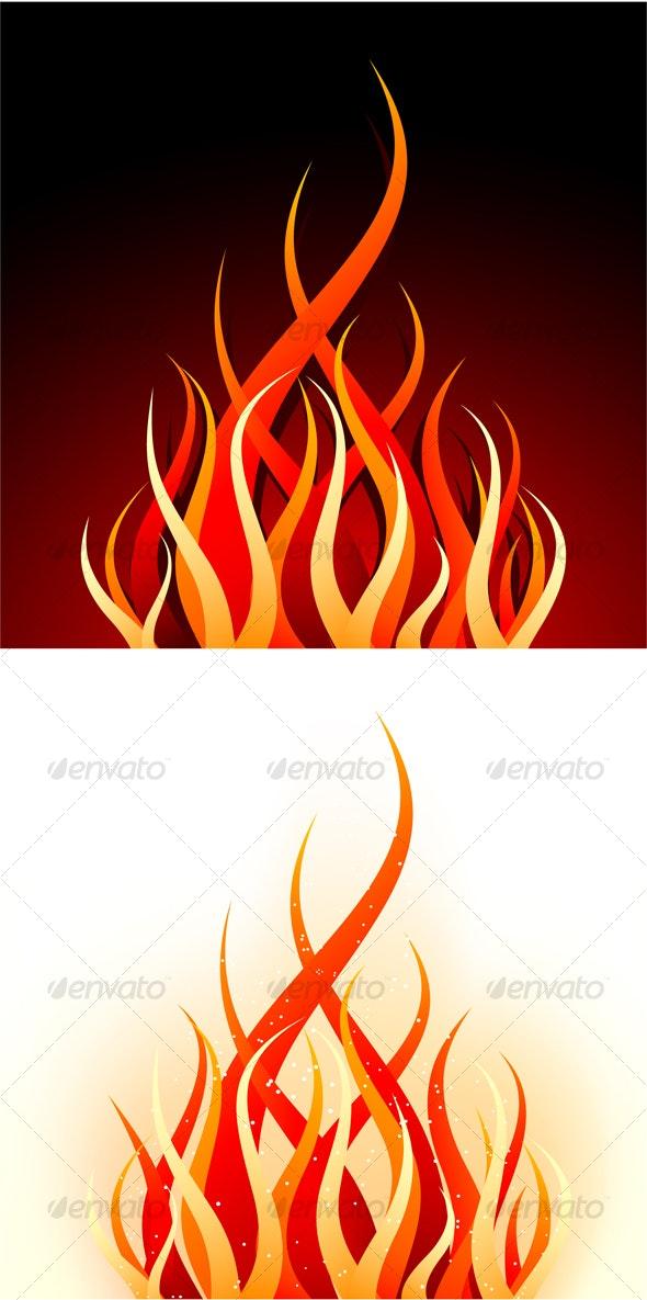 Vector fire - Abstract Conceptual