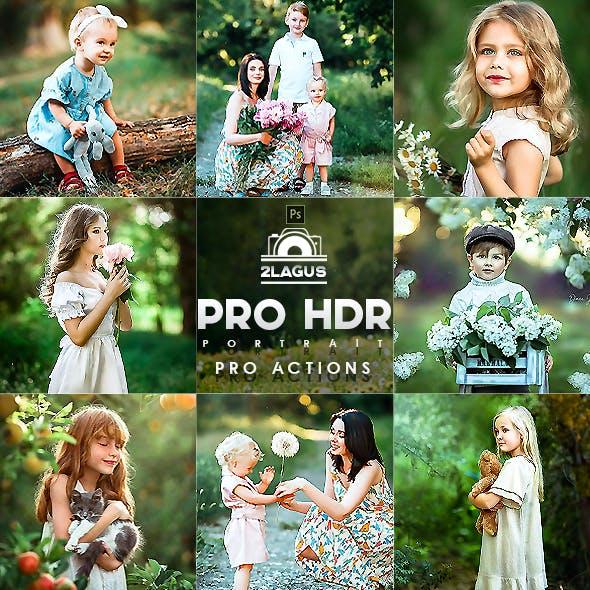 PRO HDR Portrait Photoshop Actions