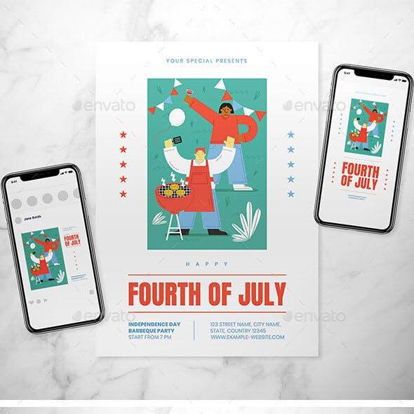 Fourth of July Flyer Set