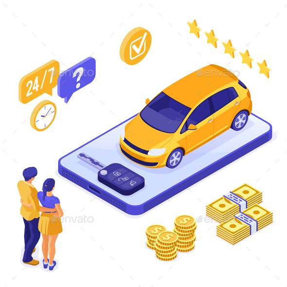 Online Sale Insurance or Sharing Car