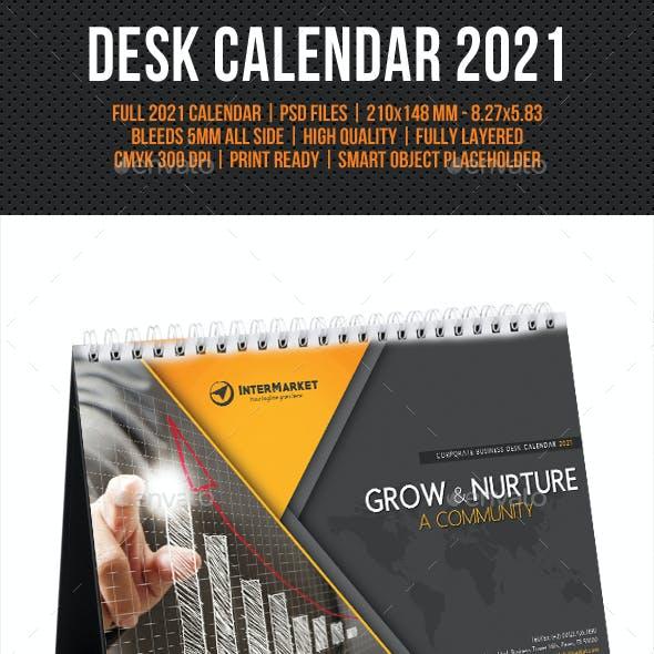 Corporate Desk Calendar 2021 V05