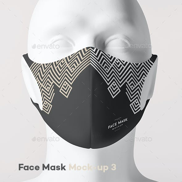 Face Mask Mock-up 3