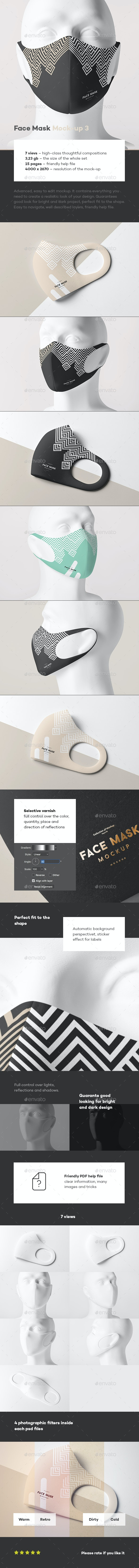 Face Mask Mock-up 3 - Miscellaneous Apparel