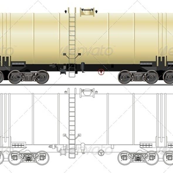 Vector Oil Gasoline Tanker Car