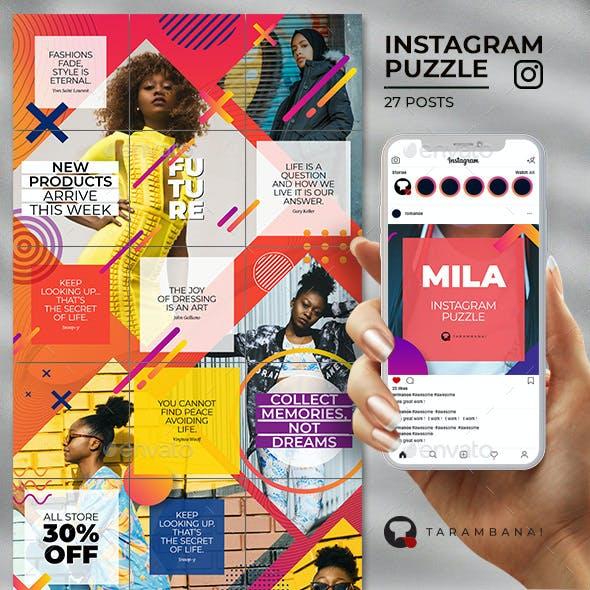 Mila - Instagram Puzzle Template