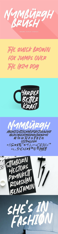 Nymburgh Brush Minimal Display Typeface