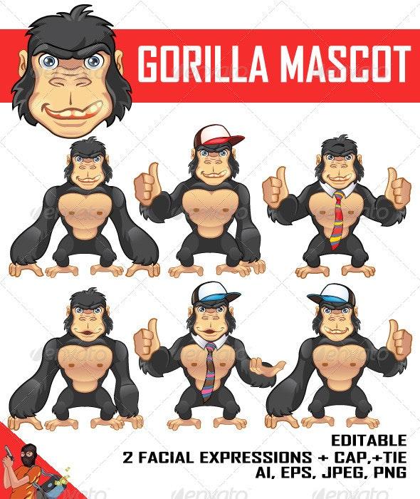 Gorilla Mascot - Animals Characters