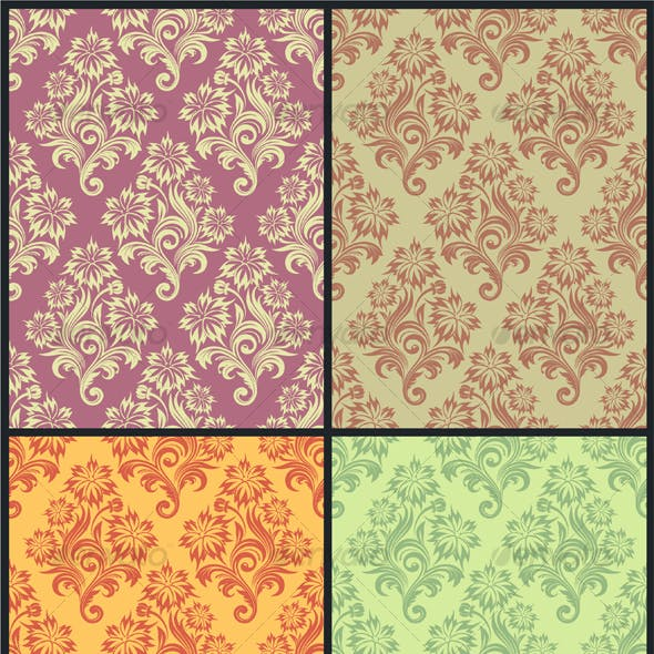 Vector seamless floral wallpaper