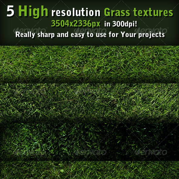 5 Grass textures high resolution