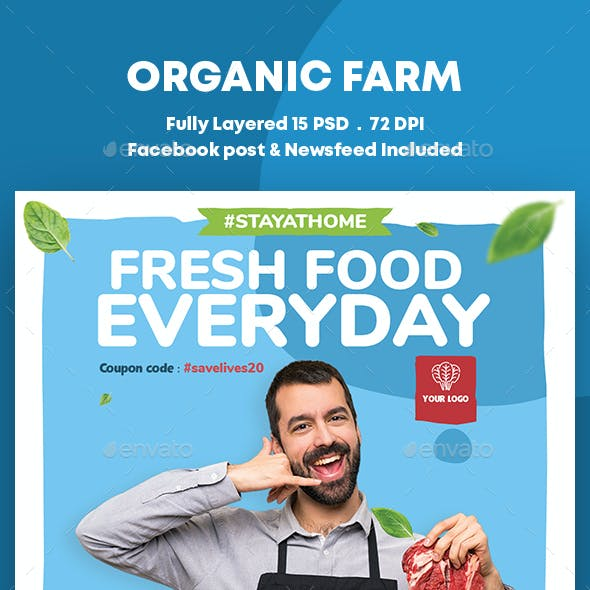 Organic Sale Banners Ad