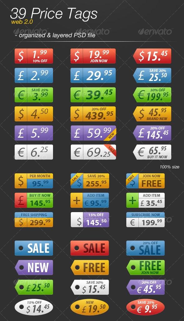 39 web 2.0 price tags - Miscellaneous Web Elements
