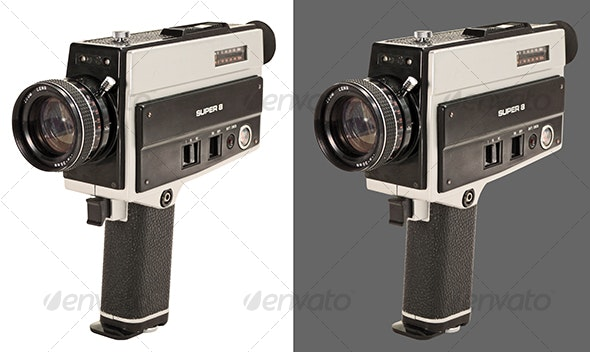 Super 8 Film Camera - Technology Isolated Objects