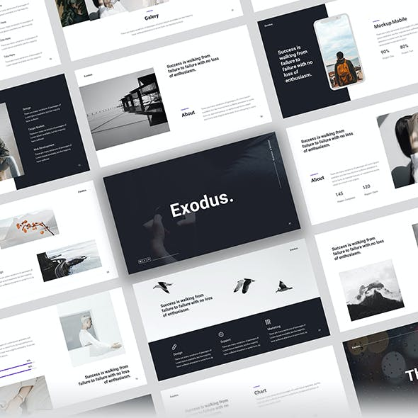 Exodus - Minimal Business Powerpoint Template