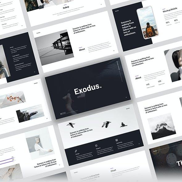 Exodus - Minimal Business Google Slide Template