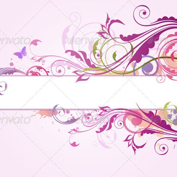 Violet Background with Ornament