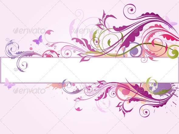 Violet Background with Ornament - Backgrounds Decorative