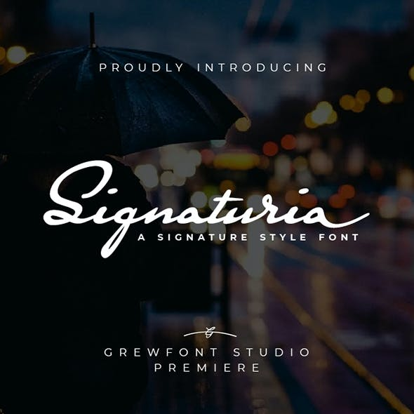 Signaturia - A Signature Style Font