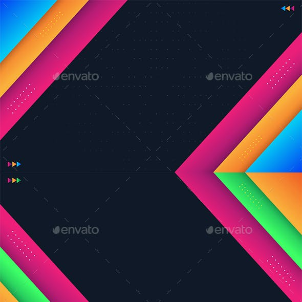 Abstract Geometric Background With Colorful Shapes