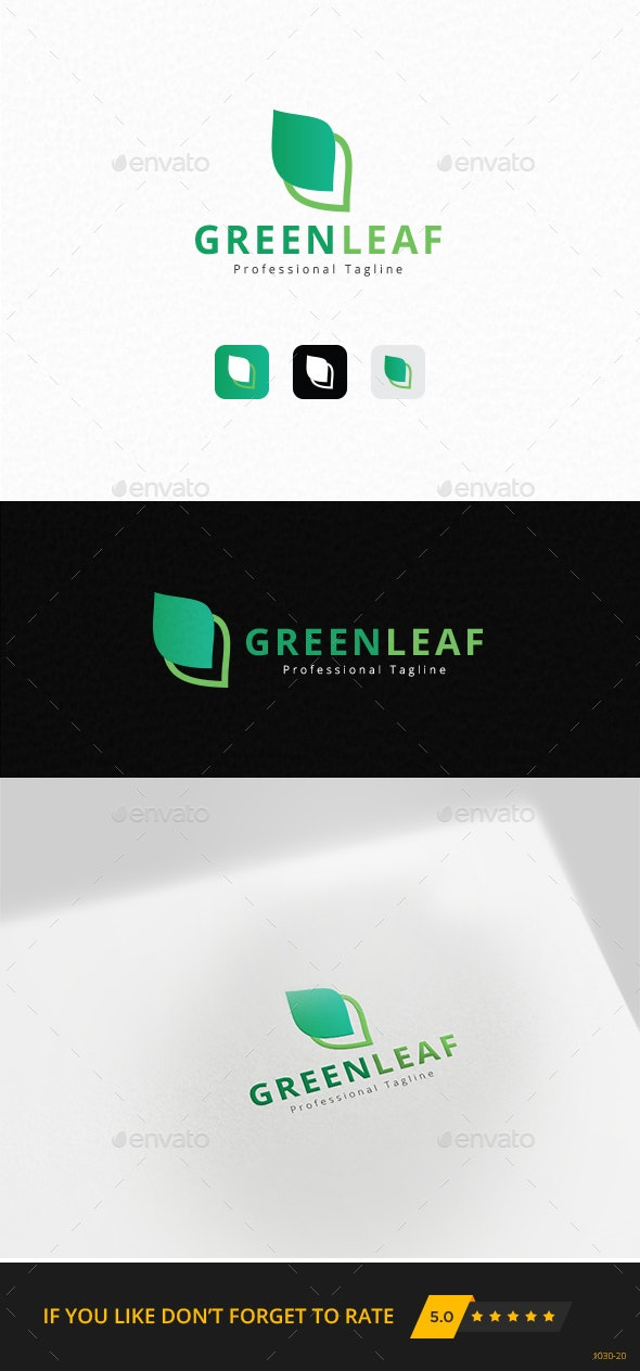 Green Leaf Logo Template - Nature Logo Templates