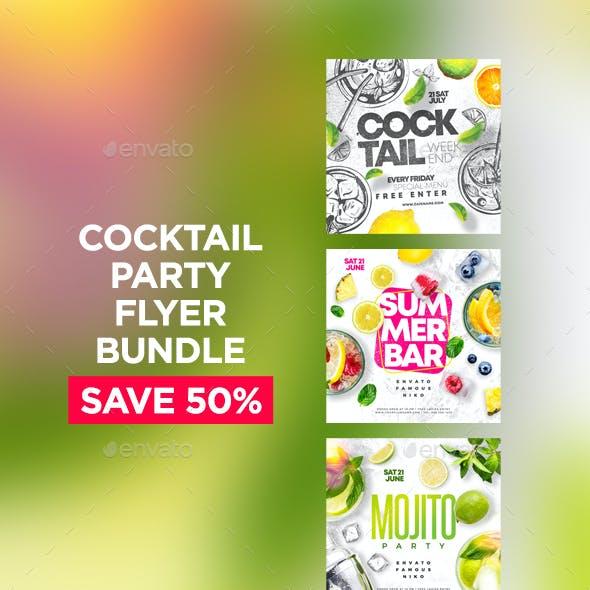 Cocktail Party Flyers Bundle