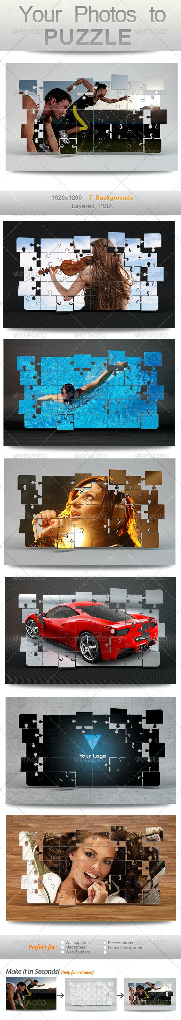 Your Photos to Puzzle - Miscellaneous Photo Templates