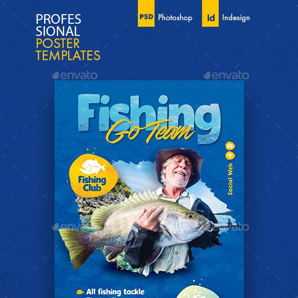 Fishing Poster Templates