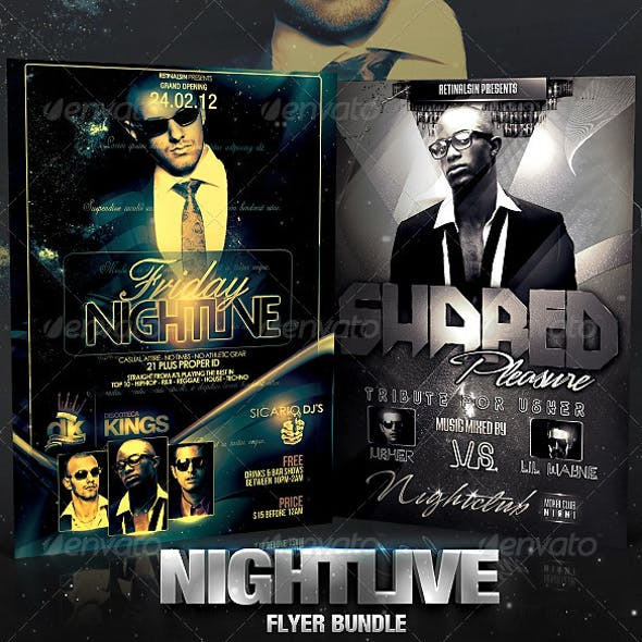 Nightlive Flyer Bundle