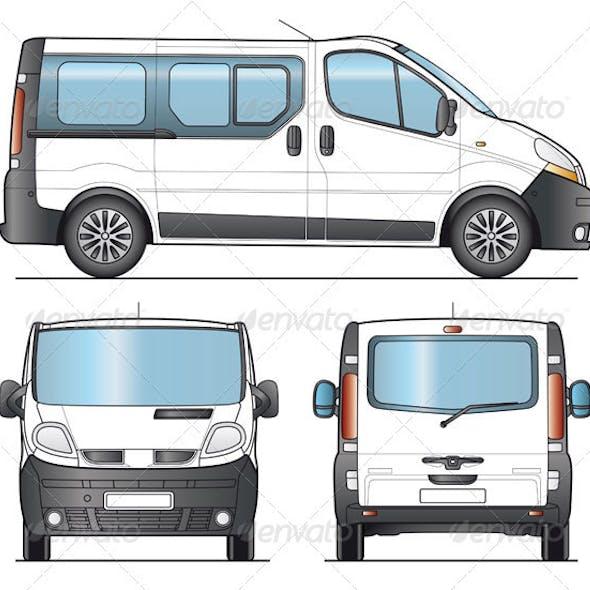 Minibus, Minivan Combi Template