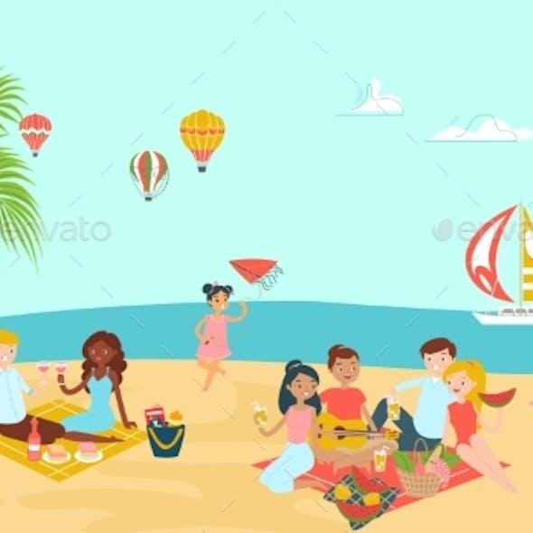 Lovely Beach Ocean Place