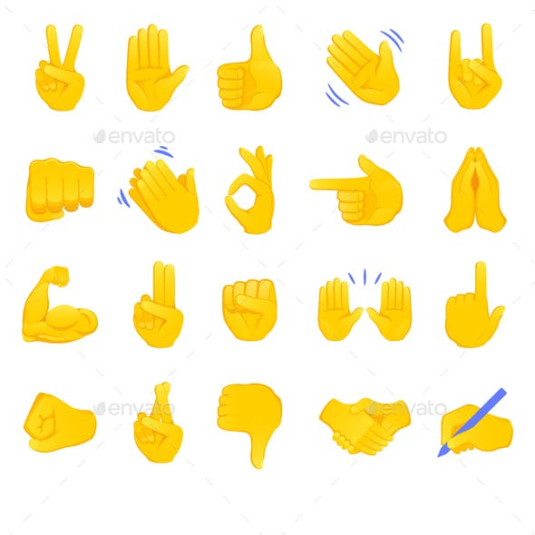 Hand Gesture Emojis Collection