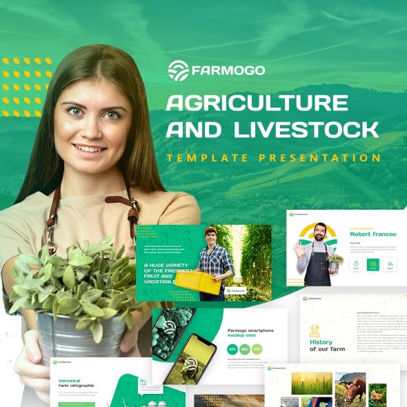 Farmogo Agriculture Powerpoint Presentation Template Fully Animated