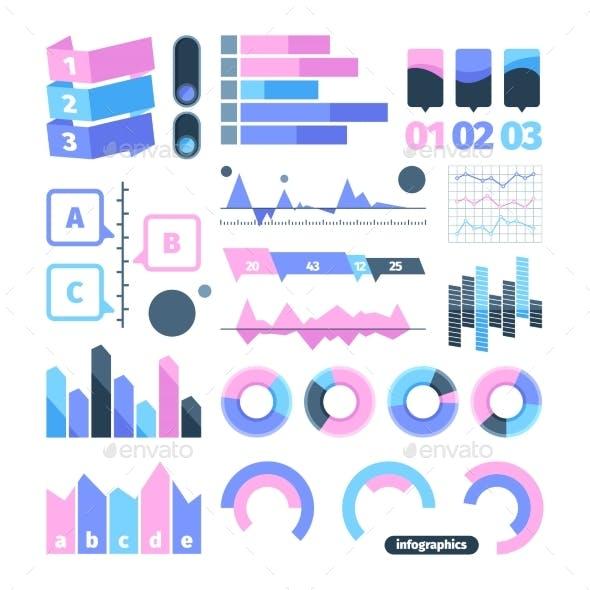Infographics Set Element. Symbol Infographic Pie