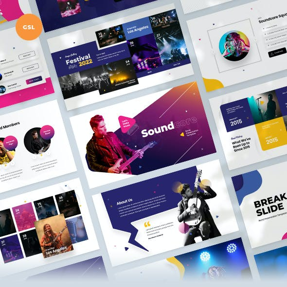 Soundcore - Music Band Google Slides Template