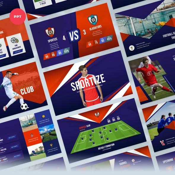 Soccer & Football Club PowerPoint Template