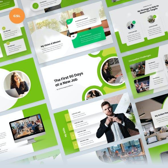 First 90 Days Plan PowerPoint Template