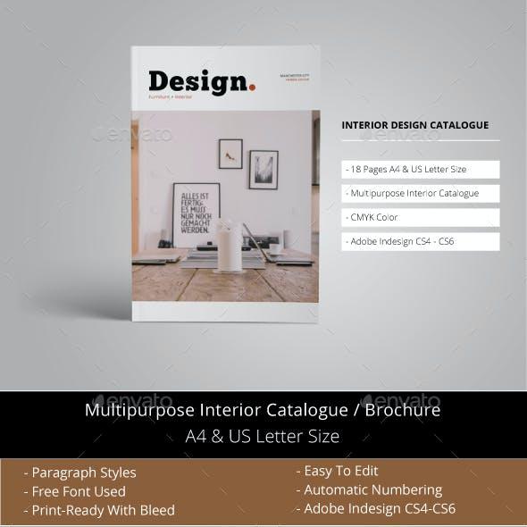 Interior Design Catalogue Template