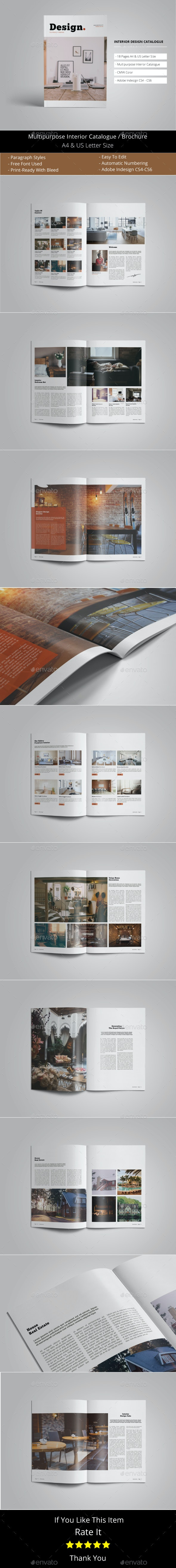 Interior Design Catalogue Template - Catalogs Brochures