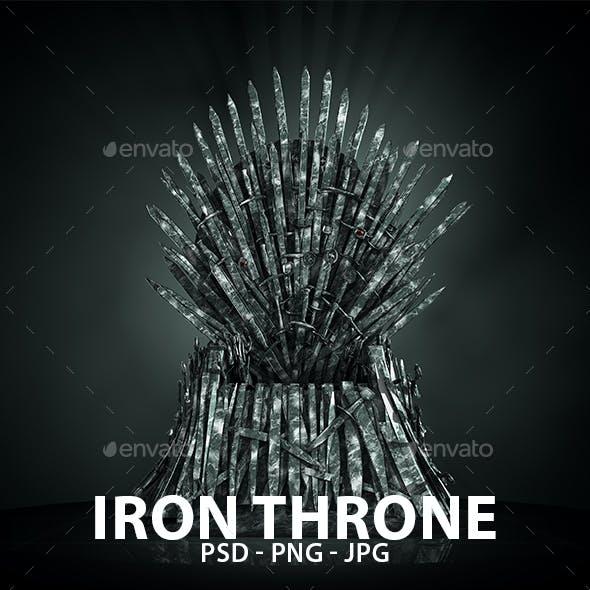GoT Iron Throne Isolated Graphics