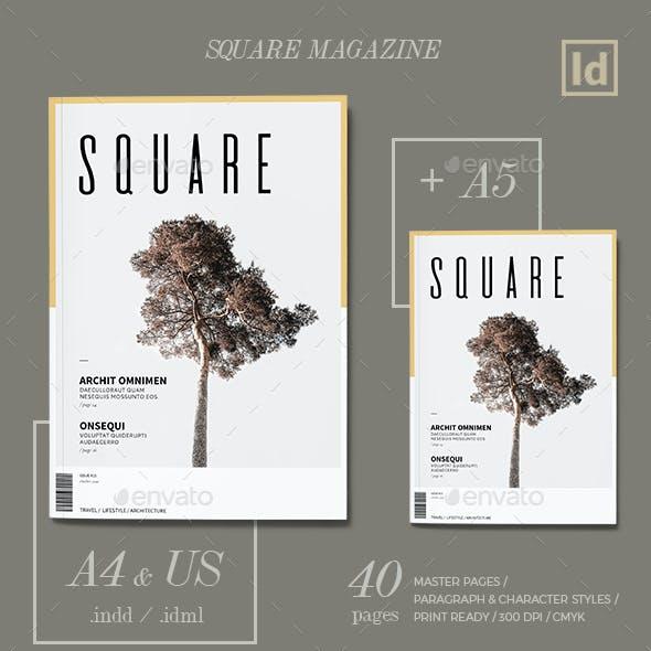 Square Magazine Template