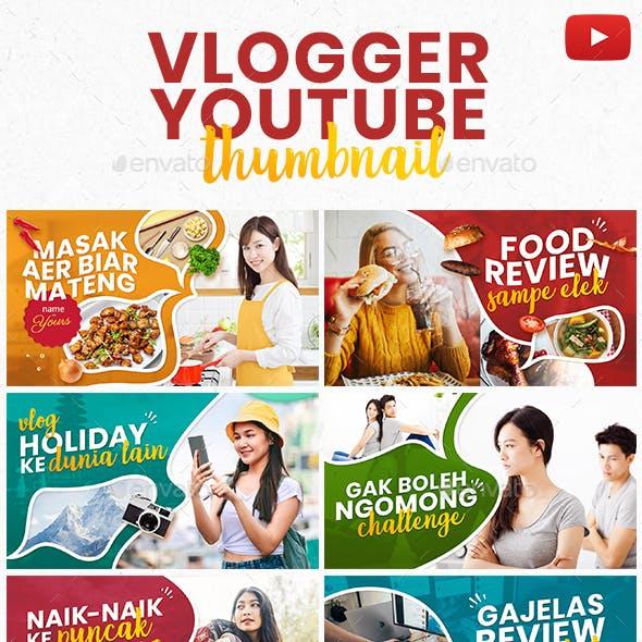 Vlogger Youtube Thumbnail